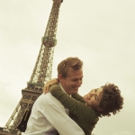 Couple Hugging at the Eiffel Tower